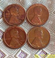 1918,1919,1919S,1920 LINCOLN WHEAT CENT'S   4 COIN   ITM0433