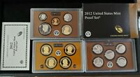 2012 S US MINT PROOF SET WITH BOX AND COA