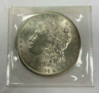 1884-P MORGAN DOLLAR, FROSTY UNCIRCULATED