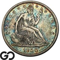 1856 O SEATED LIBERTY HALF DOLLAR TOUGHER DATE NEW ORLEANS I