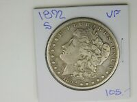 1892 S MORGAN SILVER DOLLAR VF 557