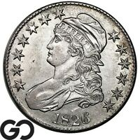 1826 CAPPED BUST HALF DOLLAR EARLY COLLECTOR SILVER 50C NICE