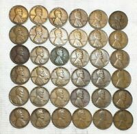 LOT OF 35 LINCOLN WHEAT PENNIES 1930 - 1952D
