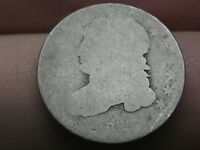 1832 SILVER CAPPED BUST DIME- LOWBALL, HEAVILY WORN
