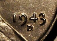 1943 D / D LINCOLN STEEL WHEAT CENT UNC  H1510