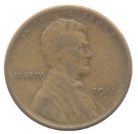1911 S LINCOLN CENT CHOICE FINE CONDITION UNITED STATES COIN