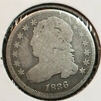1836  GOOD  CAPPED BUST DIME   COIN