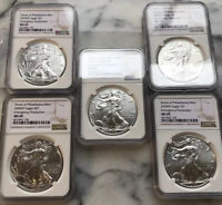 2020 P $1 AMERICAN SILVER EAGLE NGC MINT STATE 69 EMERGENCY PRODUCTION - SAME DAY SHIP