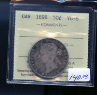 1898 CANADA 50 CENTS ICCS CERTIFIED VG8 DC477