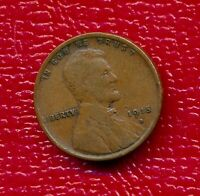1915-D LINCOLN WHEAT CENT LY CIRCULATED  FINE COIN SHIPS FREE