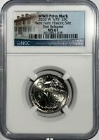 2020 W WEIR FARMS HISTORIC NGC MS67 FIRST RELEASES FR V75 WW