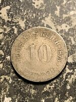 1873 A GERMANY 10 PFENNIG LOTQ9510 LOW GRADE