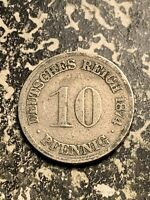 1874 F GERMANY 10 PFENNIG LOTQ9514