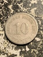 1876 J GERMANY 10 PFENNIG LOTQ9528