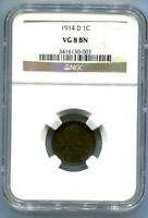 1914-D LINCOLN CENT NGC VG8 BN
