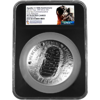 2019 APOLLO 50TH ANNIV 5 OZ PROOF SILVER COIN NGC PF70 EARLY