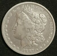 1887-O MORGAN SILVER DOLLAR.  OVERDATE, THE VAM 2 - DOUBLED DATE  V.F.  148806