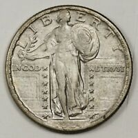 1924-D STANDING LIBERTY QUARTER.   NATURAL X.F.  148784