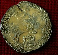SUPERB 1664 SILVER RIDER  DUCATON FROM MERESTEIJN SHIPWRECK SOUTH AFRICA 1702