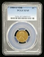 1909 S VDB LINCOLN WHEAT CENT PCGS EXTRA FINE 45 - 06102