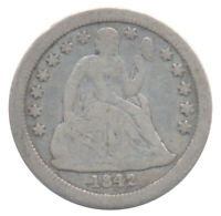 1842 O NEW ORLEANS SEATED LIBERTY DIME 10 CHOICE FINE F CONDITION SILVER COIN