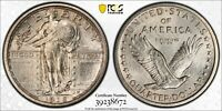 1916 PCGS MINT STATE 64FH STANDING LIBERTY SILVER QUARTER 25C