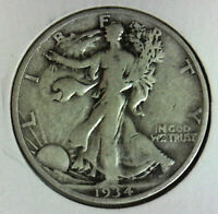 1934 S WALKING HALF  COLLECTOR GRADE COIN BUY IT NOW FREE SHIP IN USA