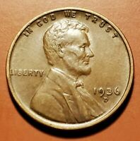 1936 D LINCOLN WHEAT CENT HIGHER GRADE H2213