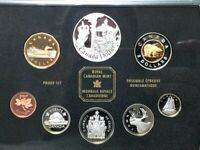 2002 PROOF SET OF CANADIAN COINS 8 CANADA SET  6 STERLING SI