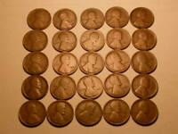LOT OF TWENTY FIVE 1914 P CHOICE GOOD BROWN LINCOLN CENTS   LINCOLNS