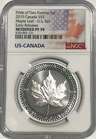 2019 $5 SILVER CANADIAN MODIFIED MAPLE LEAF NGC PF70 ER PRID