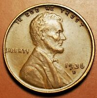 1936 D LINCOLN WHEAT CENT HIGHER GRADE H2257