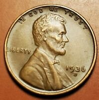 1936 D LINCOLN WHEAT CENT HIGHER GRADE H2259
