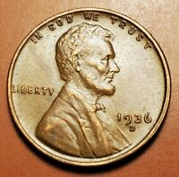 1936 D LINCOLN WHEAT CENT HIGHER GRADE H2260