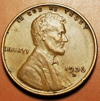 1936 D LINCOLN WHEAT CENT HIGHER GRADE H2261