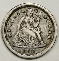 1842-O SEATED LIBERTY DIME.  SMALL