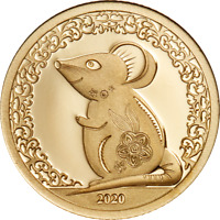 MONGOLIA 2020 1000 TOGROG   YEAR OF THE MOUSE GOLD   0.5G GO