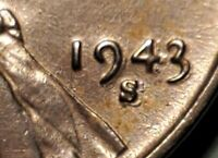 1943 S / S LINCOLN STEEL WHEAT CENT UNC  H2313