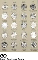 2010 TO 2017 NATIONAL PARK COMMEMORATIVE QUARTER SET ALL SUP
