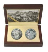 NIUE 2012 5$ WAR OF 1812   NAPOLEON & KUTUZOV 2X2 OZ ANTIK S