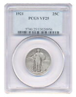 1921 STANDING QUARTER DOLLAR PCGS CHOICE  FINE VF25 CONDITION SILVER COIN