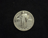 HS&C: 1921 STANDING LIBERTY QUARTER F - US COIN