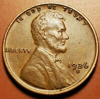 1936 D LINCOLN WHEAT CENT H2339