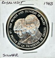 1983 ROYAL VISIT TO CANADA   CHARLES AND DIANA SILVER PROOF MEDAL