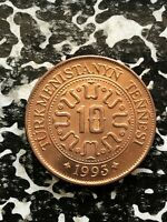 1993 TURKMENISTAN 10 TENGE  42 AVAILABLE  HIGH GRADE  BEAUTIFUL    1 COIN ONLY