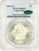 1879-CC $1 PCGS/CAC MINT STATE 64 CAPPED DIE KEY DATE FROM CARSON CITY