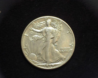 HS&C: 1939 WALKING LIBERTY HALF DOLLAR EXTRA FINE /AU - US COIN