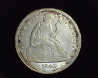 HS&C: 1846 LIBERTY SEATED DOLLAR F - US COIN