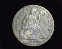 HS&C: 1868 LIBERTY SEATED DOLLAR VF/EXTRA FINE  - US COIN