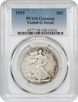 1919 50C PCGS GOOD DETAILS TOOLED - WALKING LIBERTY HALF DOLLAR